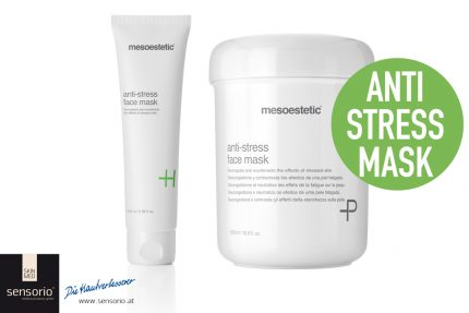 Anti Stress Face Mask Cremetiegel und Tube
