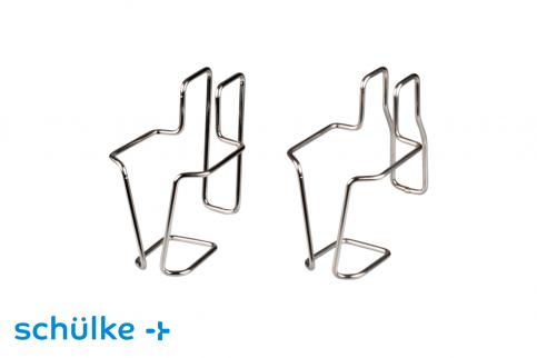 Schülke Bettgestellhalterung für Vierkantflaschen aus Metall