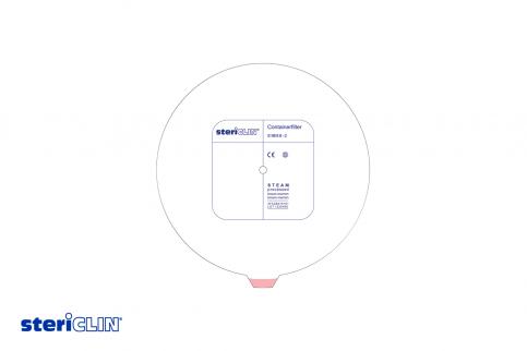 SteriClin Containerfilter mit Beschriftung rund