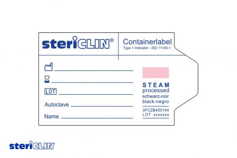 SteriClin Container Label für einen Container für medizinische Instrumente