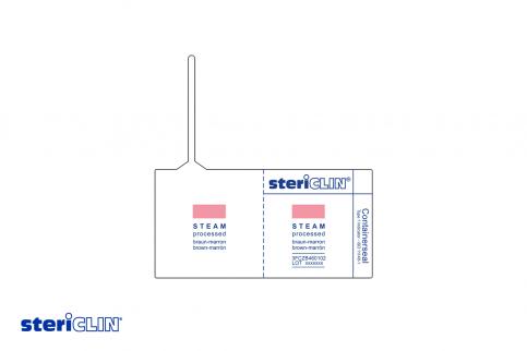 SteriClin Container Seal mit Beschriftung für das Verschließen von Containern nach der Dampfsterilisation