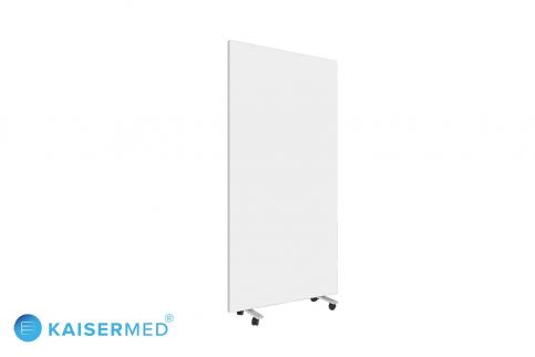 Mobile Trennwand / Faltwand auf Rollen 1-teilig mit Aluminium Rahmen als Werbefläche unbedruckt